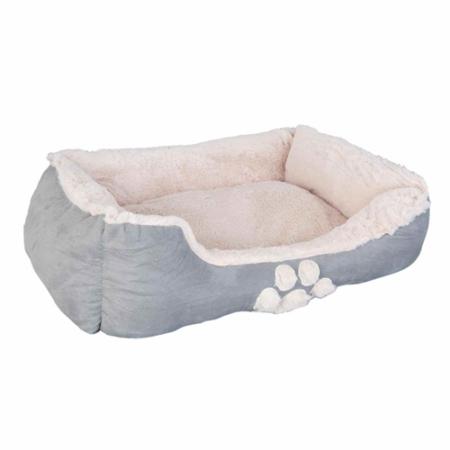 Clayre & Eef 63552 Textil kutyafekhely 68x55x20cm, szürke
