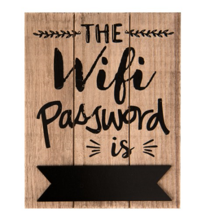 Clayre & Eef 6H1446 Fa tábla 16x1x20cm,The wifi password is