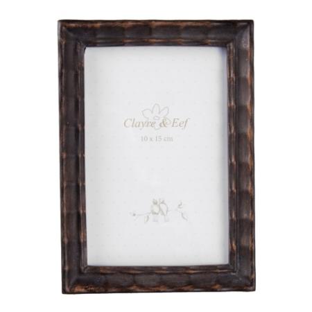 Clayre & Eef 2F0538 Képkeret műanyag 13x16cm, barna keretes