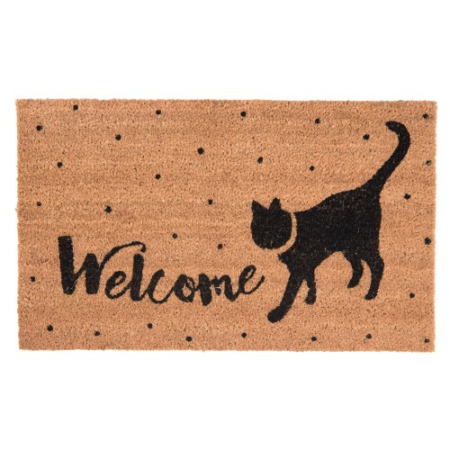 "Clayre & Eef MC136 Lábtörlő 75x45cm, cicás ""Welcome"""