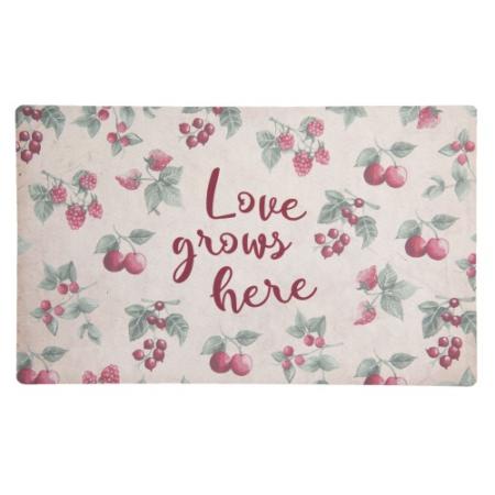 CLEEF.MC163 Előszobe belépő 74x44cm, gumi-polyester, Love grows here-gyümölcsös