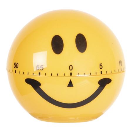 Clayre & Eef 64400 Műanyag konyhai főzőóra 75x72mm, Smile