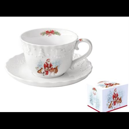 R2S.2461CARL Porceláncsésze+alj 250ml, dobozban, Christmas Carol