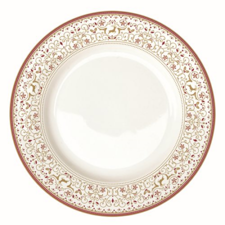 A.A.942WICA Porcelán lapostányér 26,5cm, Winter Carousel