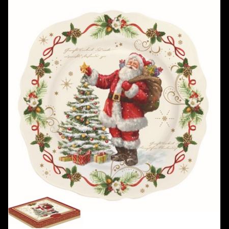 R2S.1176MAGI Porcelán desszerttányér 20cm, dobozban, Magic Christmas