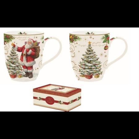 R2S.1457MAGI Porcelán bögreszett 2db-os dobozban, 350ml, Magic Christmas