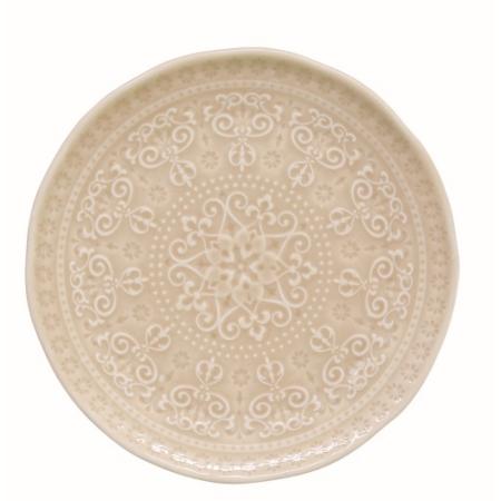 R2S.1864ABBE Porcelán desszerttányér 19cm, Abitare Chic Beige