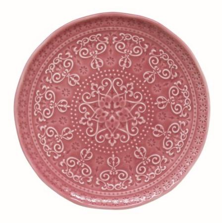 R2S.1864ABDP Porcelán desszerttányér 19cm, Abitare Chic Deep Pink