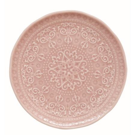 R2S.1864ABLP Porcelán desszerttányér 19cm, Abitare Chic Light Pink