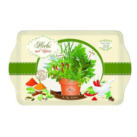R2S.531HESP Melamine tálca 33x22cm, Herbs & Spices