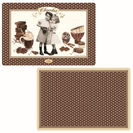 R2S.320CHOV Műanyag tányéralátét kétoldalas, Chocolate Vintage