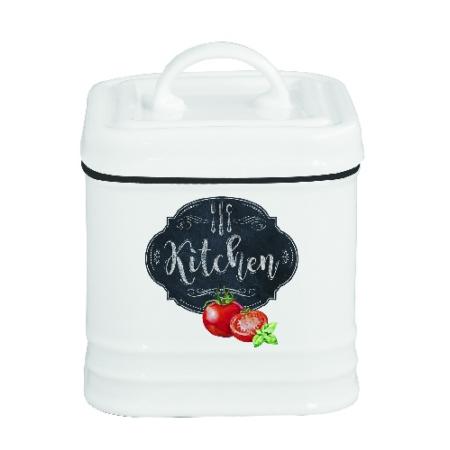 Porcelán konyhai tároló 8x8x11cm, Kitchen Basics