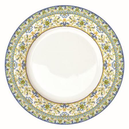 Porcelán lapostányér 26,5cm, Capri