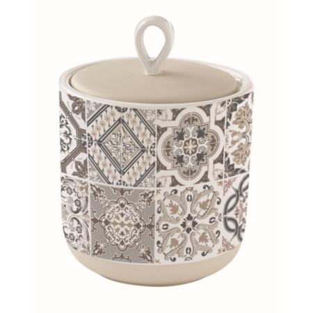 Porcelán konyhai tároló 11x14cm, Casa Decor grey