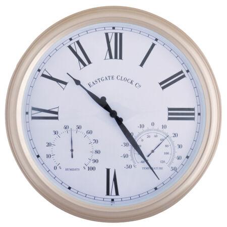 A.C Óra hőmérővel és páratartalom mérővel