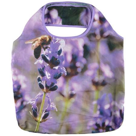A.TP226-L Összehajtható táska, virágos, levendulás
