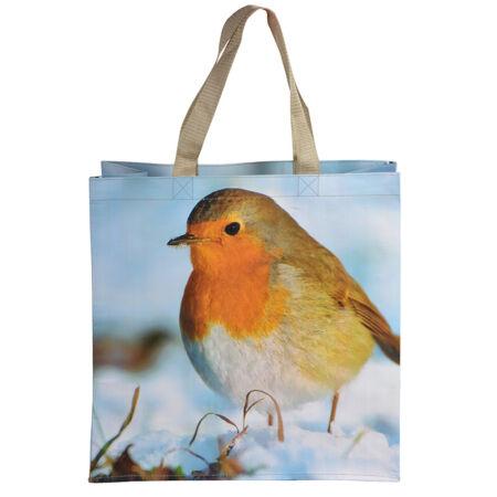 Bevásárló táska, vörösbegy TP138