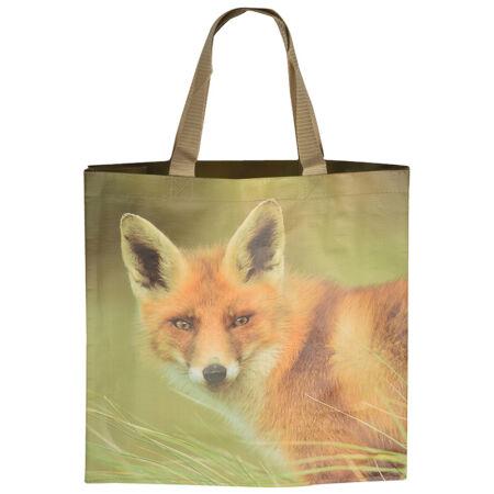B.TP162 Bevásárló táska, állatmintás, róka