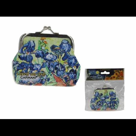 H.C.021-3705  Műbőr pénztárca 9x7,5x2cm, Van Gogh: Írisz