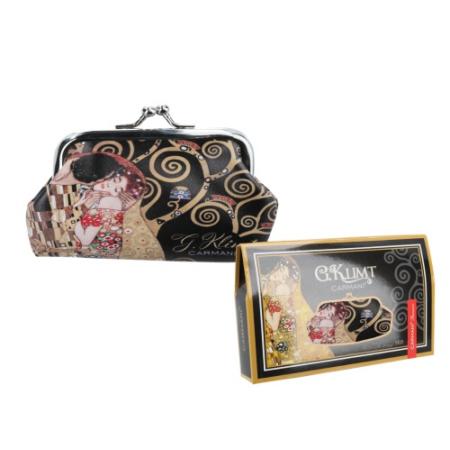 H.C.021-4501  Műbőr pénztárca 20x10x10cm, Klimt: The Kiss