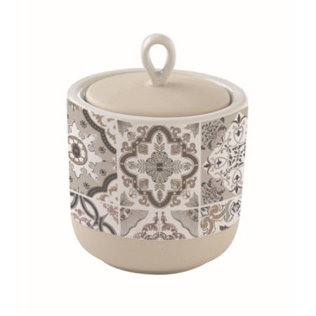 Porcelán konyhai tároló 8x10cm, Casa Decor, szürke