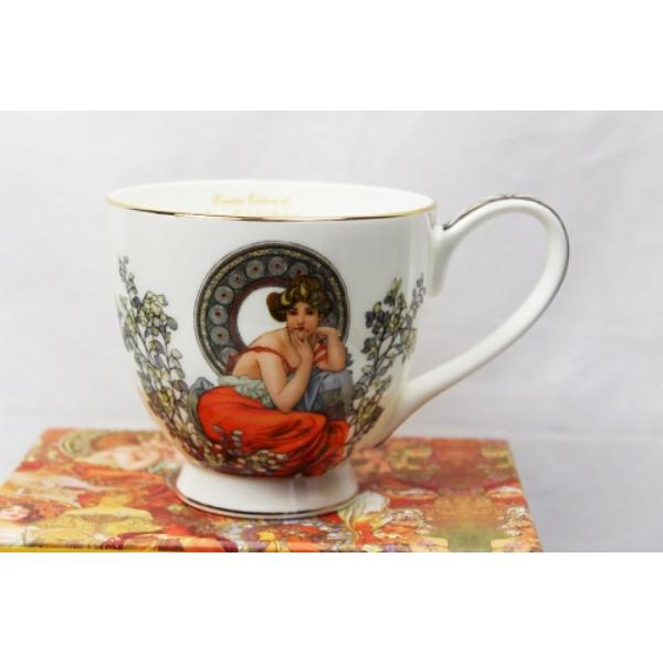 P.P.W7S85-18662 Porcelán jumbo  csésze 500ml, Mucha: Topáz