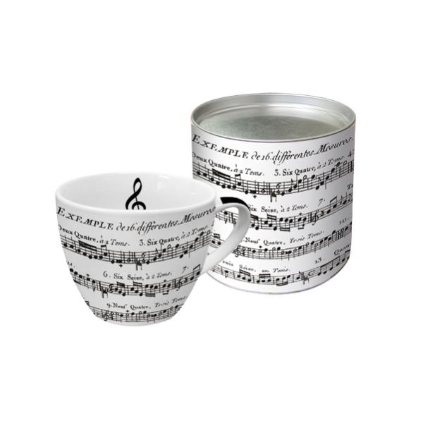 PPD.F601346 porcelán bögre 0,45l , dobozban fém tetővel, Adagio