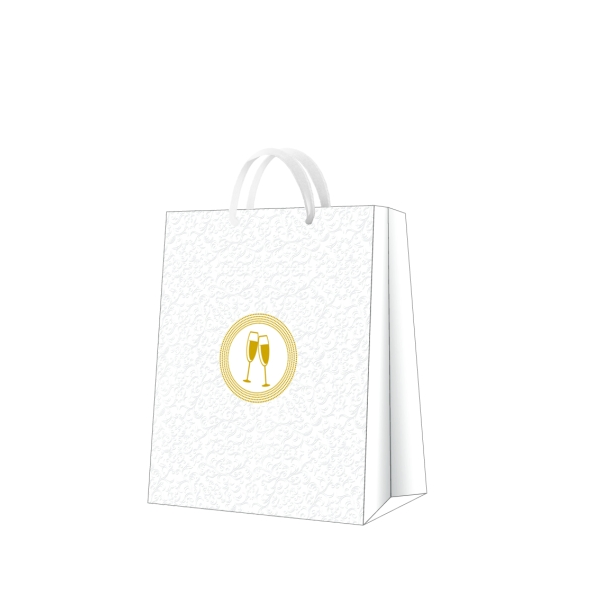 P.W.AGB3000705 Premium Wedding laces papír ajándéktáska large 26,5x33,5x13 cm