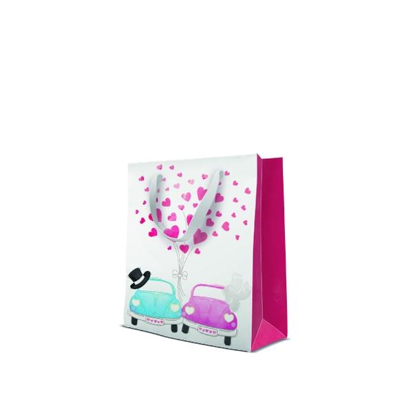 P.W.AGB3001103 Premium Cars in love papír ajándéktáska medium 20x25x10 cm