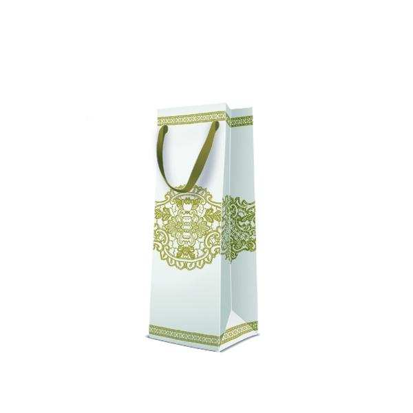 P.W.AGB3001204 Premium Royal Lace papír ajándéktáska italos 12x37x10 cm