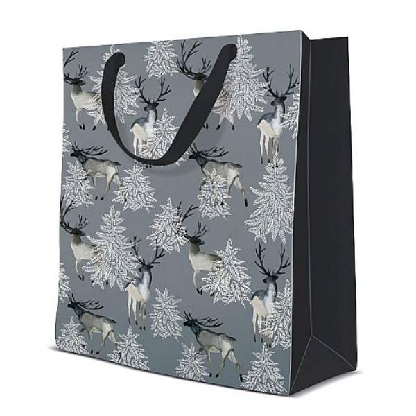 P.W.AGB2009203 Elks Forest premium  papír ajándéktáska medium,20x25x10cm