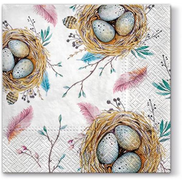 A.P.W.SDL099100 Easter Nest papírszalvéta 33x33cm, 20db-os
