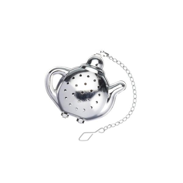 K.C.KCLXNOVTEAPOT Rozsdamentes acél teáskanna teaszűrő 6x6cm, Le'Xpress