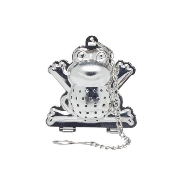 K.C.KCLXFROG Rozsdamentes acél béka teaszűrő 4,5x5cm,Le'Xpress