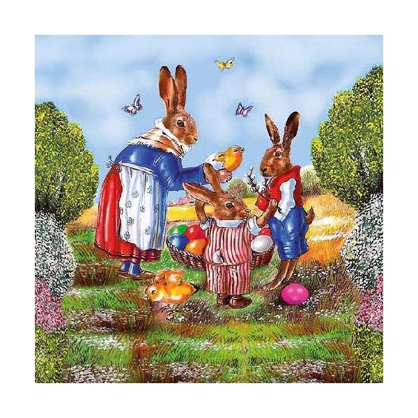 AMB.23301630 Family Hare papírszalvéta 33x33cm,20db-os