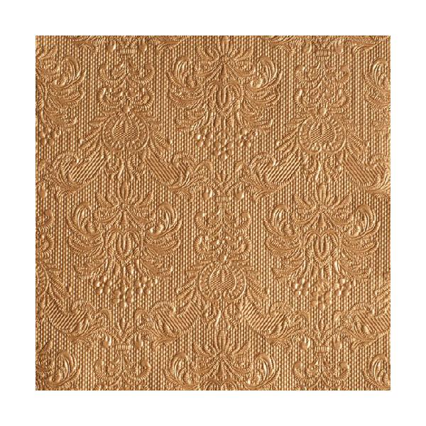 Elegance Bronz Papírszalvéta 33x33cm, 15db-os