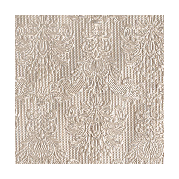 Elegance pearl taupe papírszalvéta 25x25 cm, 15 db / csomag