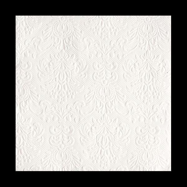 AMB.13304925 Elegance white papírszalvéta 33x33cm,15db-os