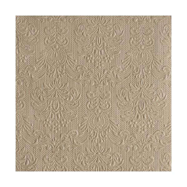 AMB.14005509 Elegance taupe papírszalvéta 40x40cm,15db-os