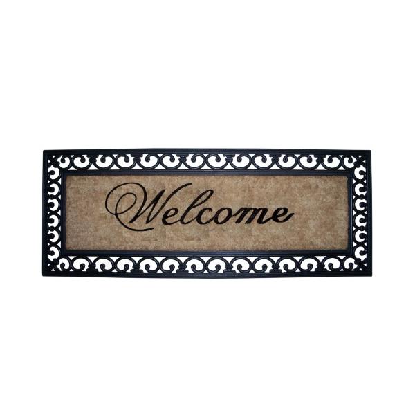 "Clayre & Eef MC029 Lábtörlő Welcome 45X120cm,gumis szélű ""Welcome"""