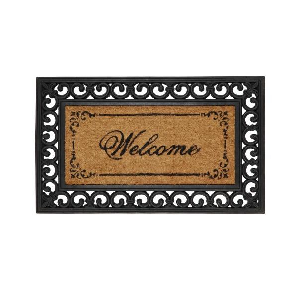 "Clayre & Eef MC031 Lábtörlő 45x76cmx16mm,gumis szélű ""Welcome"""