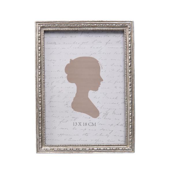 Clayre & Eef 2F0489L Képkeret antikolt ezüst színű, 14x19 cm