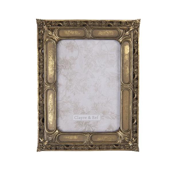 CLEEF.2F0688 Képkeret antikolt arany 19x24cm/13x18cm,műanyag