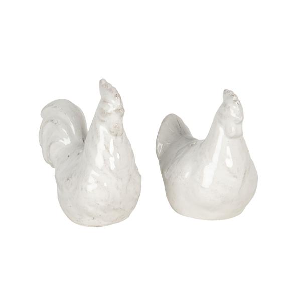 CLEEF.6CE1115 Kerámia só-borsszóró szett, tyúk, 8x4x9cm