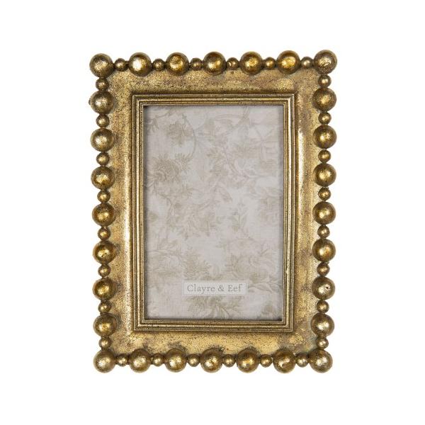CLEEF.2F0694 Képkeret műanyag, 16x21/10x15cm, arany színű bogyós