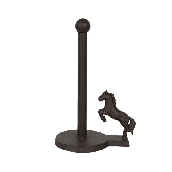 CLEEF.6Y3806 Öntöttvas asztali papírtörlőtartó lovas 23x15x34cm