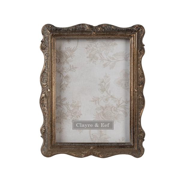 CLEEF.2F0828 Antikolt aranyszínű képkeret 17x22cm/13x18cm, műanyag