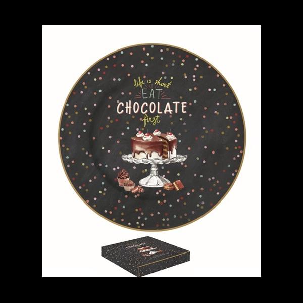 R2S.284HOCH Porcelán desszerttányér 19cm, dobozban, Hot Chocolate