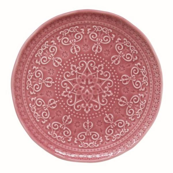 Porcelán desszerttányér 19cm, Abitare Chic Deep Pink