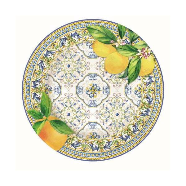 Porcelán desszerttányér 19cm, Capri Agrumi